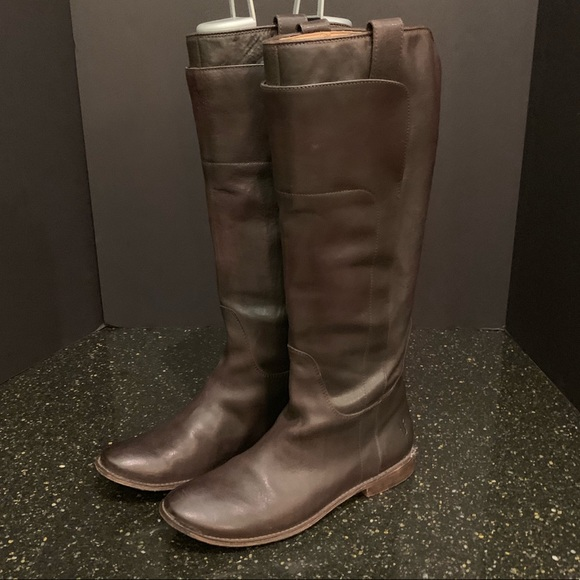 Frye Shoes - Frye Brown Leather Tall Boots